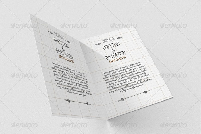 Invitation and Greeting Card Mockups