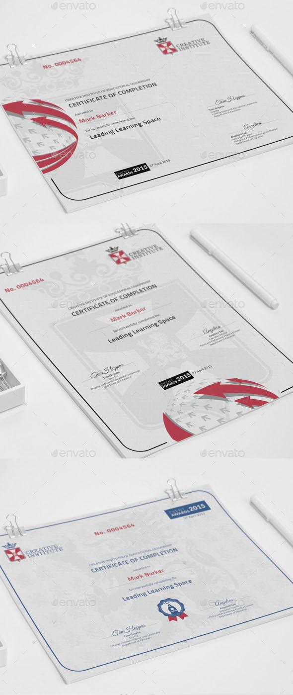 Premium Modern Certificate in PSD, AI & EPS Format