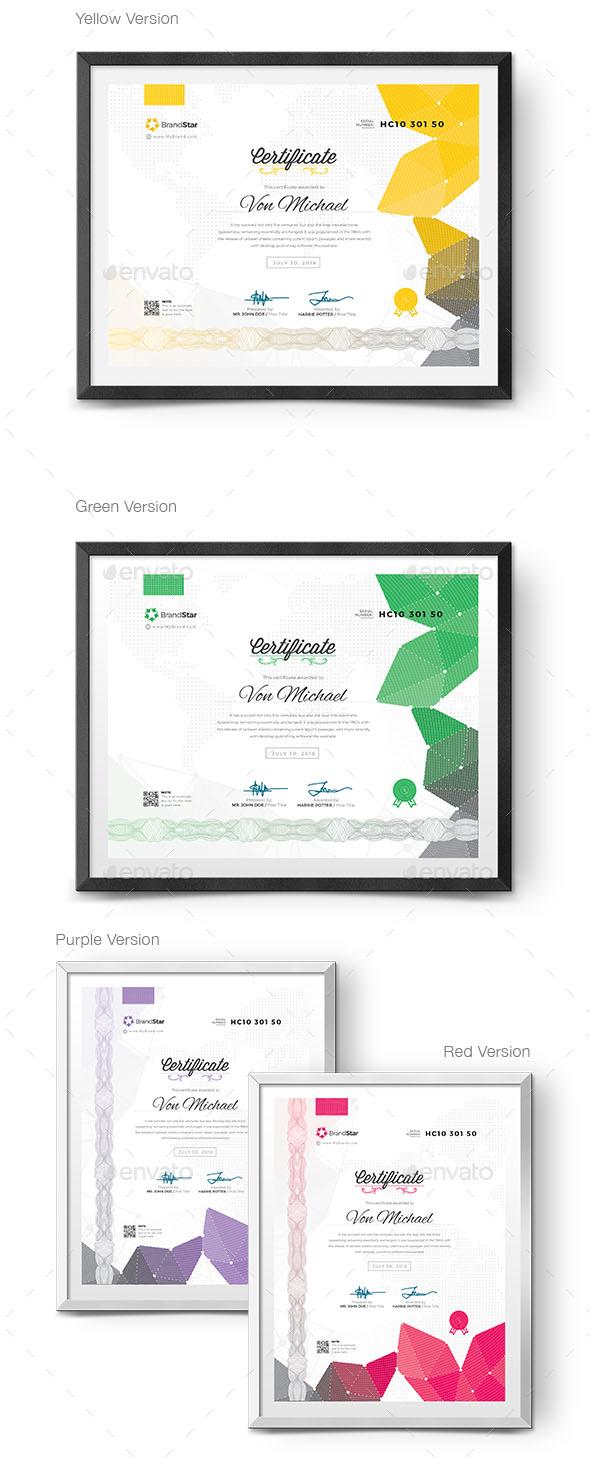 Multiple Modern Certificate