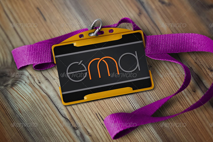 Colorful Badge Mockup