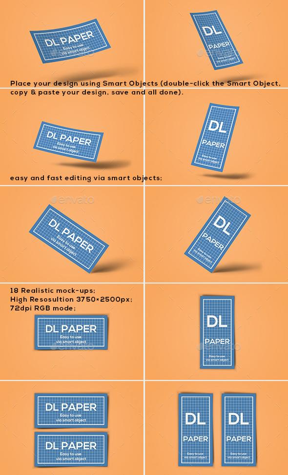 Premium DL Paper Flyer Mock-up
