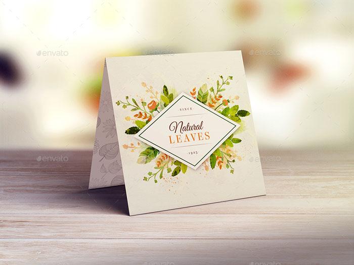 Square Invitation/Greeting Card Mockup