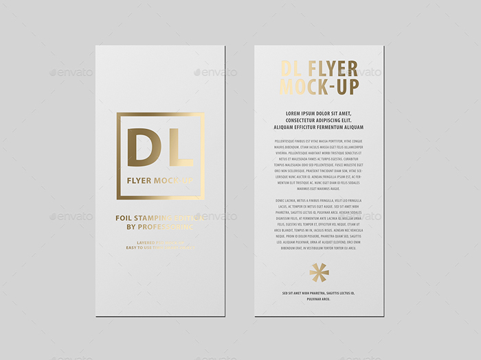 DL Flyer Mock-Up / Foil Stamping Edition Premium