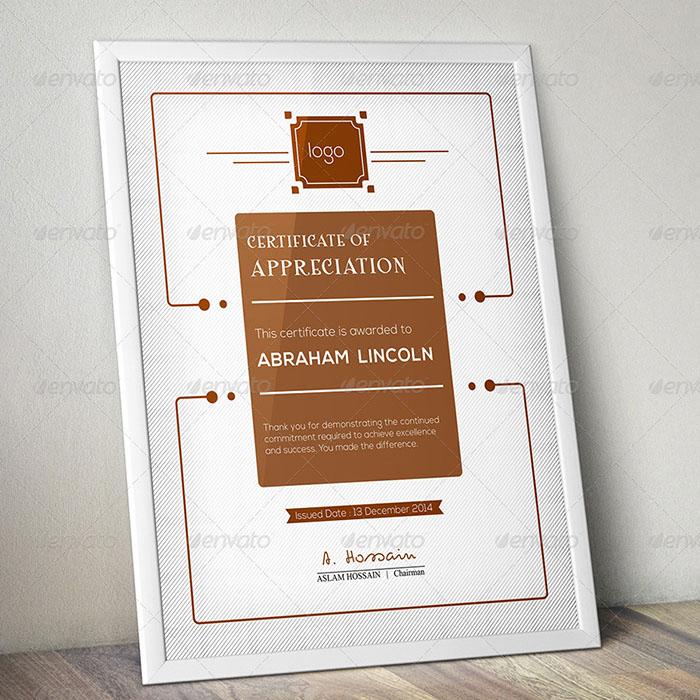 Modern Multipurpose Certificate GD011