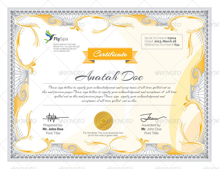 Premium Modern Multipurpose Certificates V2
