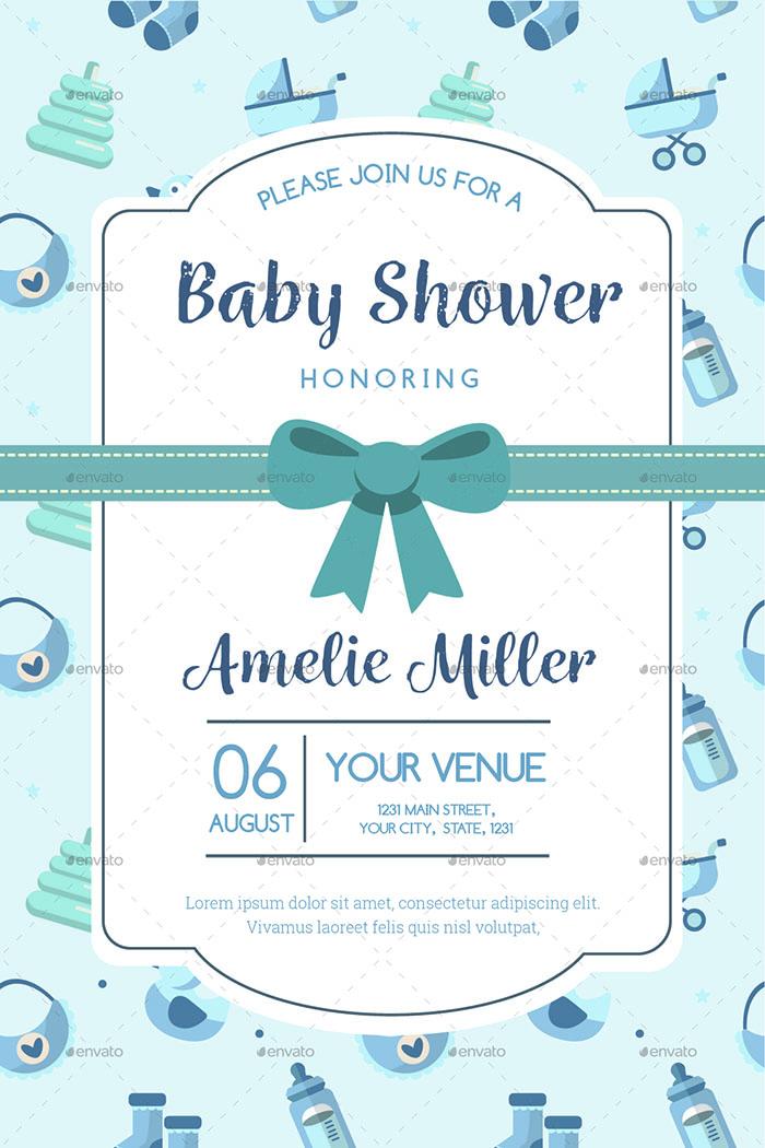 Baby Shower Invitation Flyer