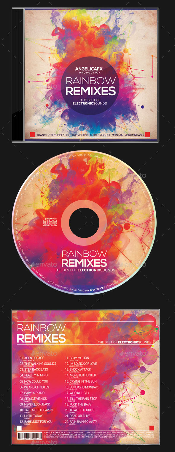 80 Best Templates Of CD DVD Covers PSD