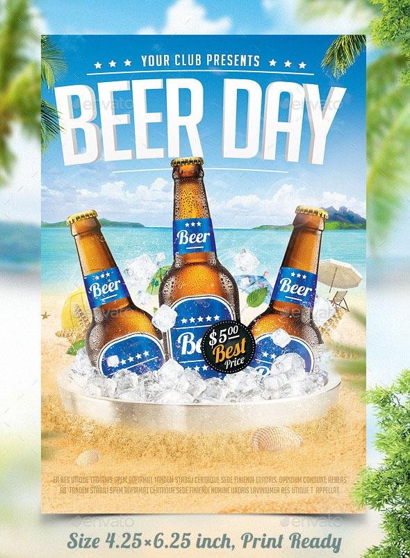 Premium Beer Flyer Mock Up Template