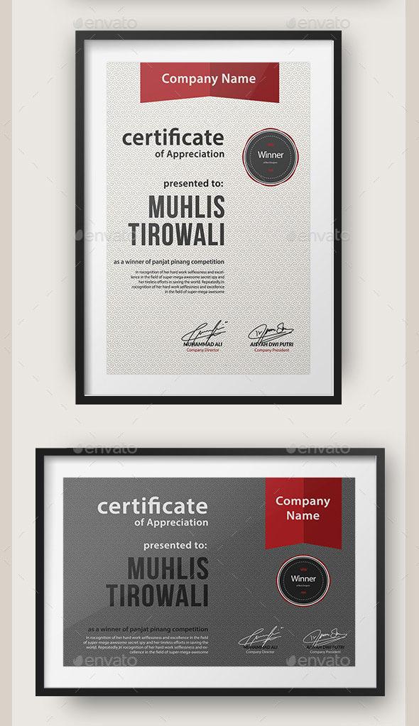 Pattern Certificate