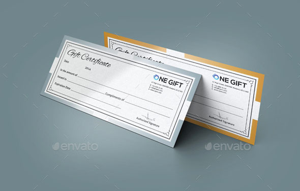 Simple Gift Certificate GD008