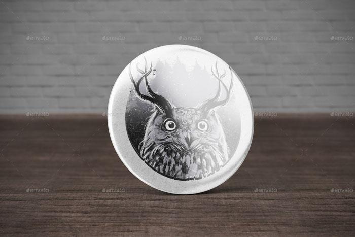 Premium Badge Button Mock-Up
