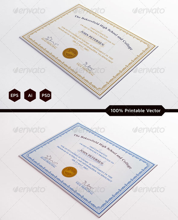 70 best certificate and diploma templates free and premium download premium certificate template yadclub Images