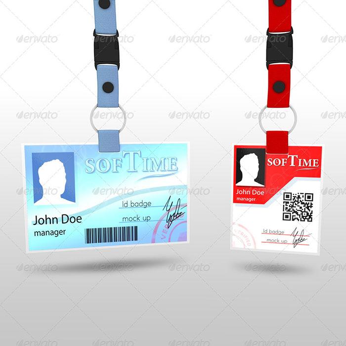 Standard ID Badge Template