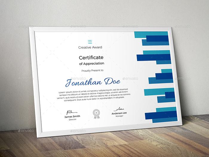 Certificate of Appreciation Premium