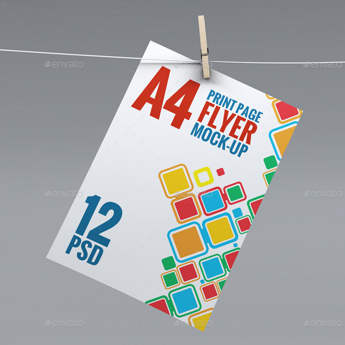 A4 Corporate Flyer Mock-Up