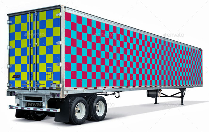 53-foot Trailer Wrap Mockup