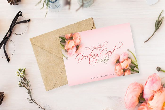 Exceptional Free Beautiful Greeting Card Mockup PSD