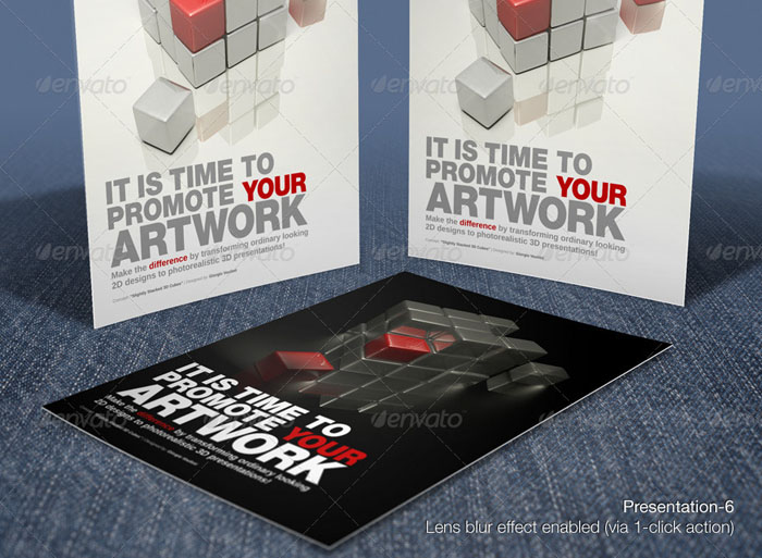 Photorealistic Poster/Flyer Mock Up