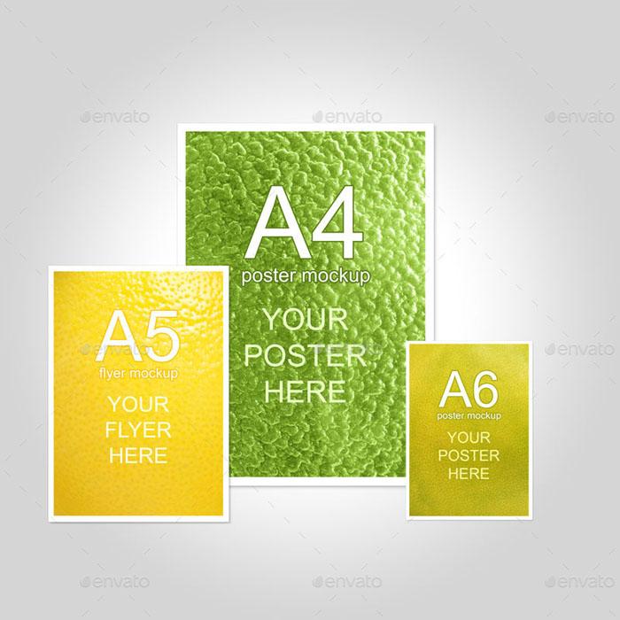 Premium Multiple Formats Flyer Mock-up A4 A5 & A6