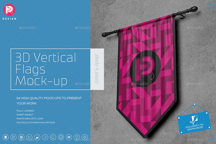 Graphicriver Exhibition Stand Design Mockup : Realistic flag mockups psd vector free premium download