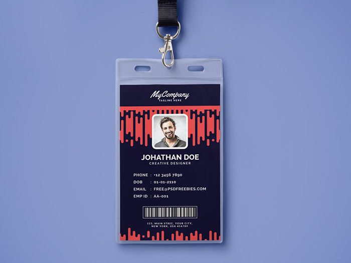 Best Id Card And Lanyard Templates Psd Vector  Free  Premium