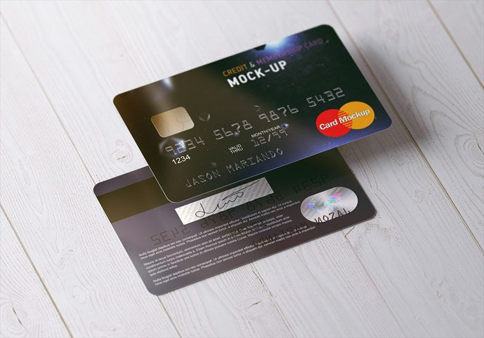 43 Photorealistic Credit Card Mockups 2020 Psd Vector Download