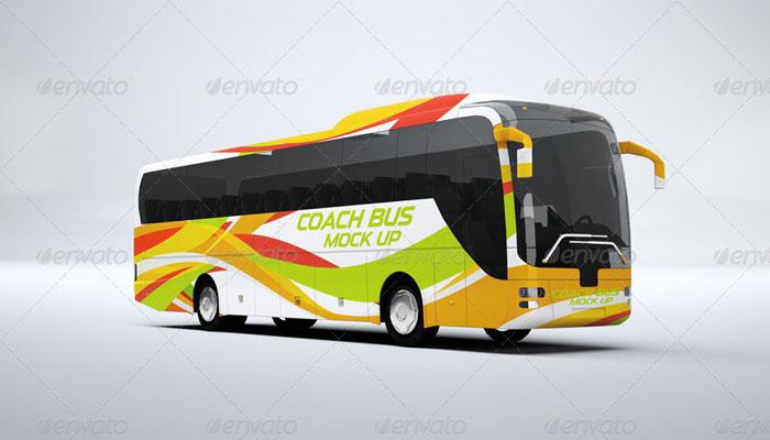 Premium Coach Bus Mock Up