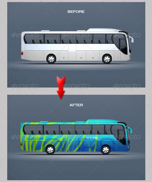 Mockup for Bus & Passenger Vehicles