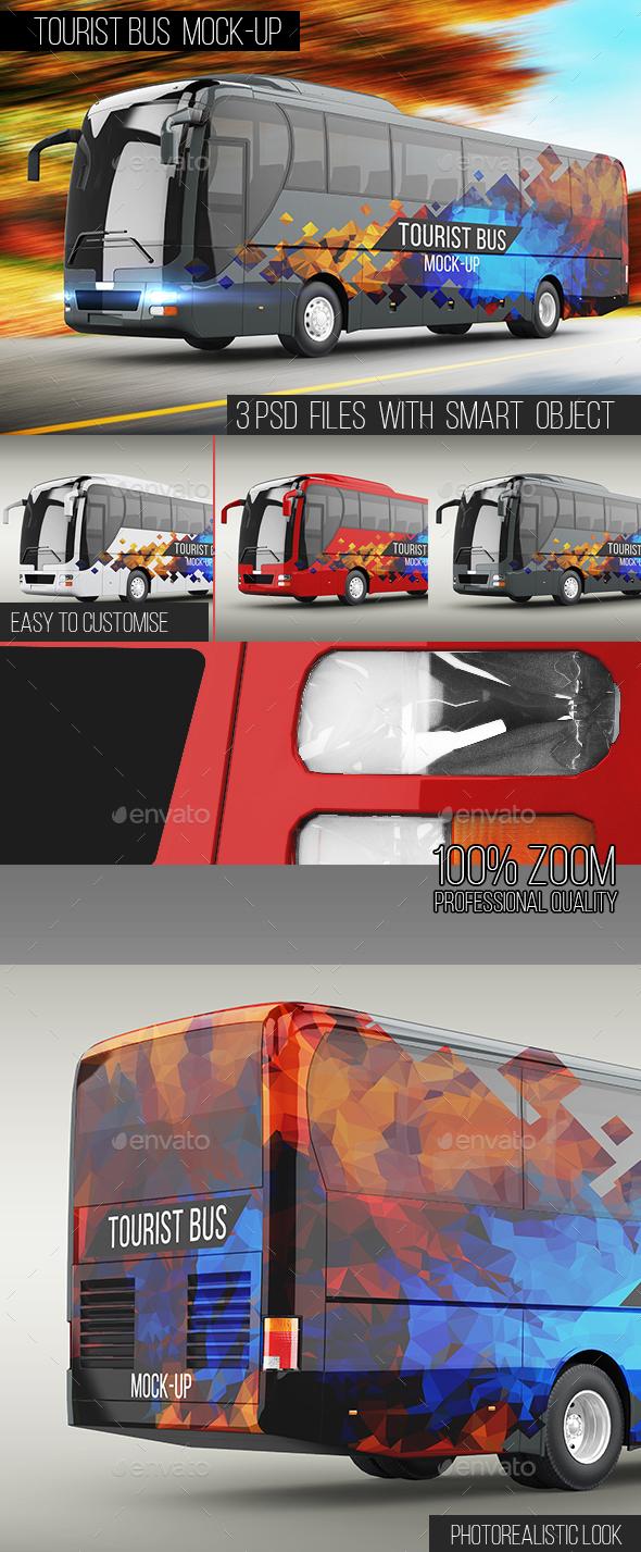 Premium Tourist Bus Mock-Up