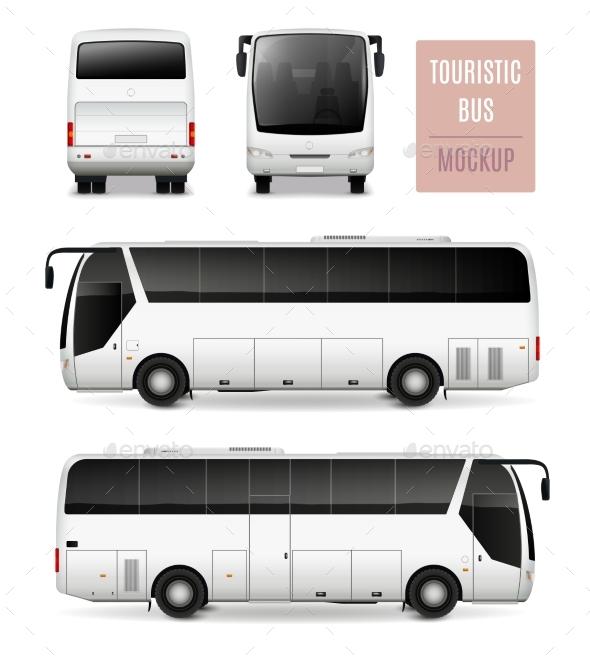 Premium Touristic Bus Realistic Advertising Template