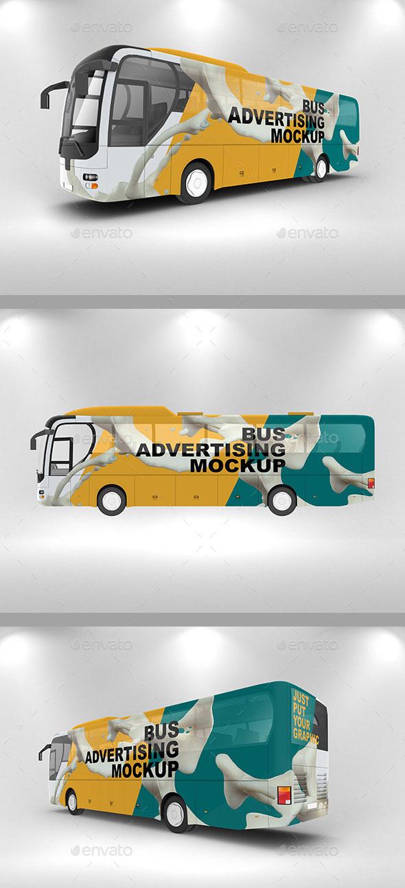 Premium Bus Advertising Mockup