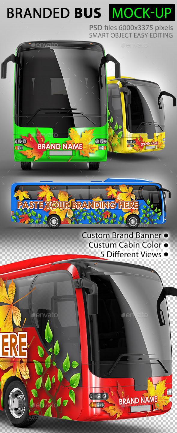 Bus, Tourist Bus, Coach Bus Mock-up
