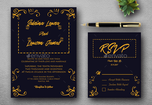 75 High Quality Wedding Invitation Card Designs 2019 Psd