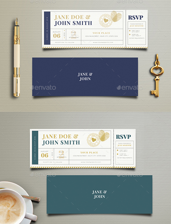 75 high quality wedding invitation card designs psd indesign vector ticket style printable wedding invitations available for usage free to edit and free to customize these invitations are a dream come true stopboris Images