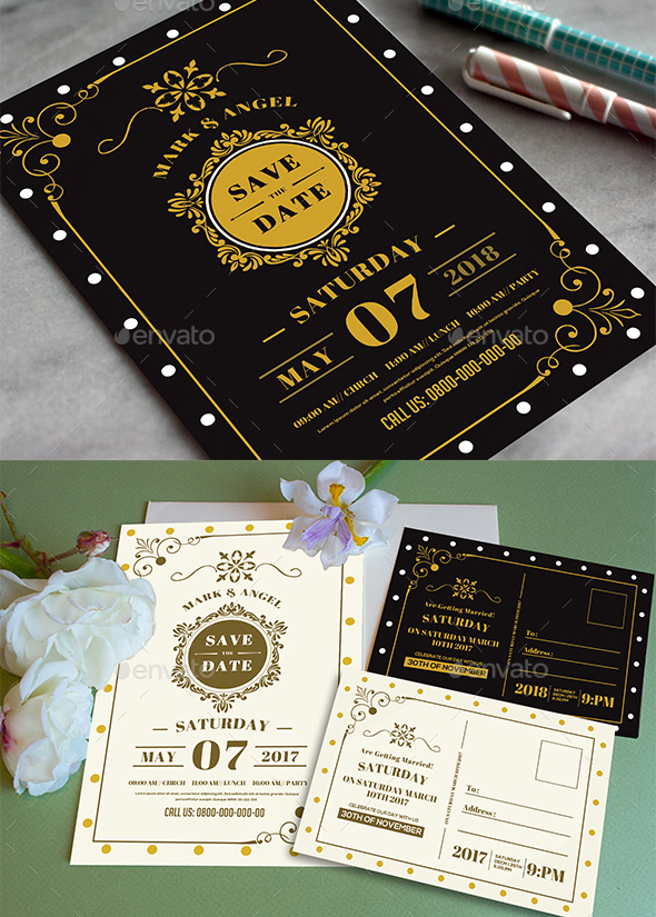 75 high quality wedding invitation card designs psd indesign vector one of the wedding invitation ideas always revolves around black and gold this invite displays exactly that so if you want to have a premium invitation stopboris Choice Image