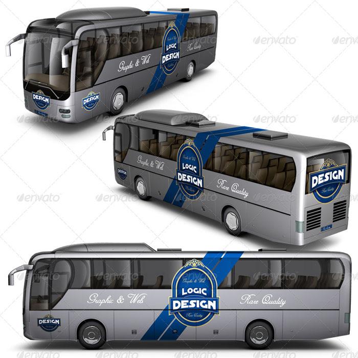 Premium Bus Mockup