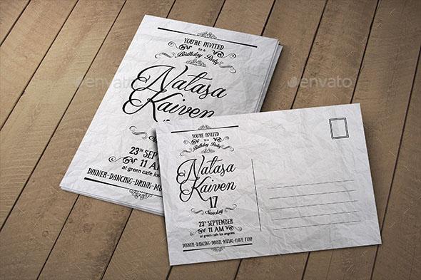 57 best postcard mockups psd vector free premium download vintage invitation postcard solutioingenieria Images