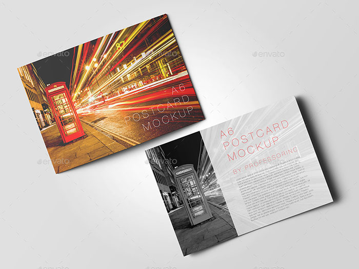 A6 Postcard/Invitation Mockup
