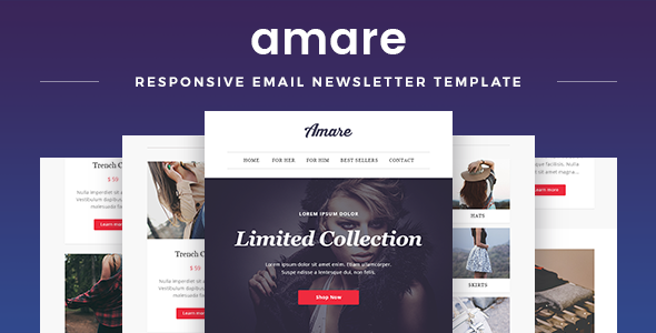 Amare Responsive Newsletter Templates