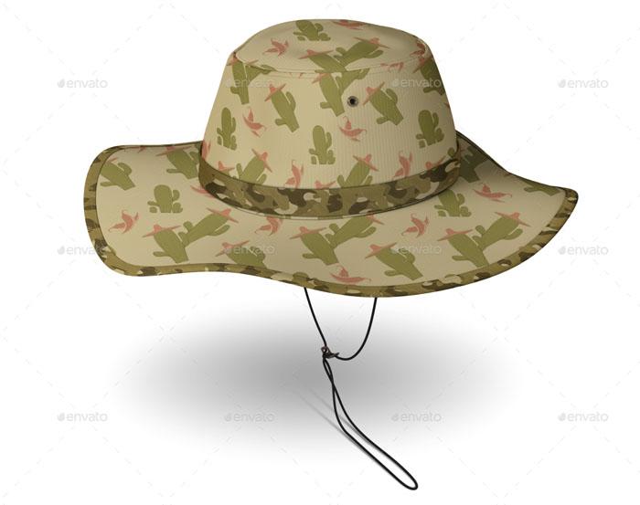 PSD Bucket Hat Mockup