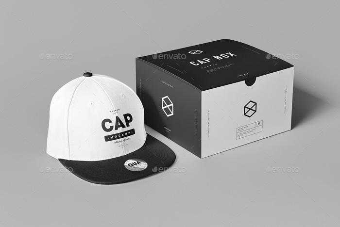Premium Cap & Box Mockup