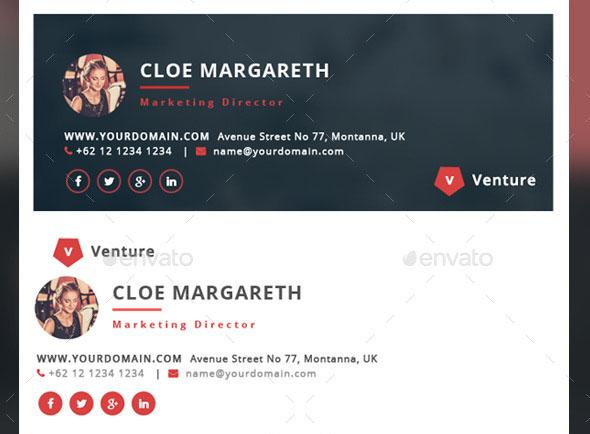 Premium Creative E-Signature – Venture
