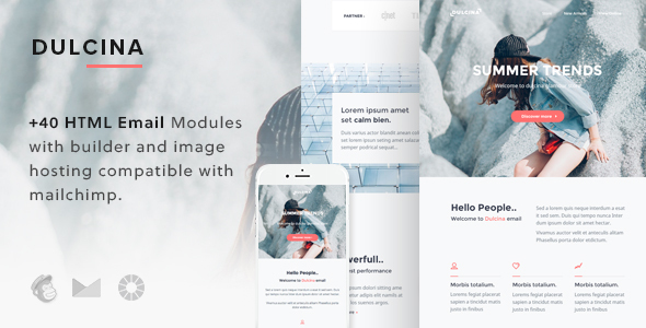 55 best responsive email newsletter templates 2017 html psd dulcina responsive newsletter templates spiritdancerdesigns Images