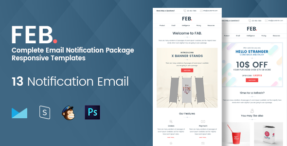 55 best responsive email newsletter templates 2017 html psd feb responsive newsletter templates spiritdancerdesigns Images