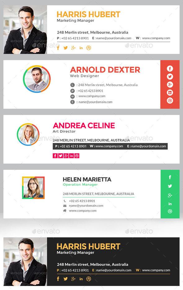 Premium Signature Template – 10 Designs