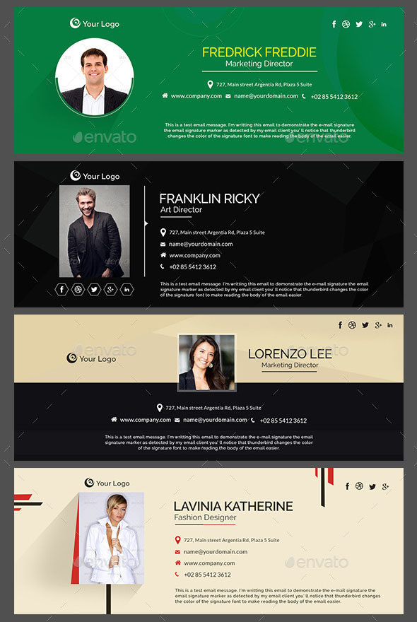 Email Signature Templates – 10 Design