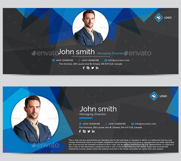 Awesome Email Signature Templates  Html Psd