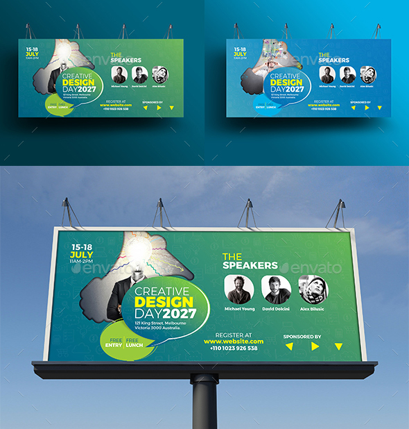 70+ High Quality Outdoor Billboard Templates 2018 (PSD)