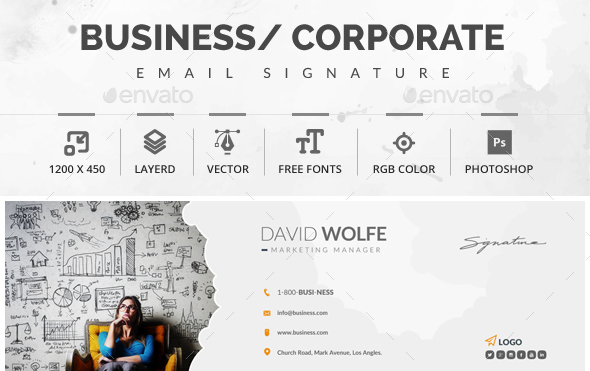 51 awesome email signature templates 2017 html psd business corporate email signature template maxwellsz