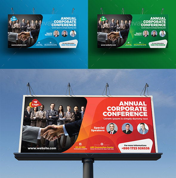 Event Summit Conference Billboard Template